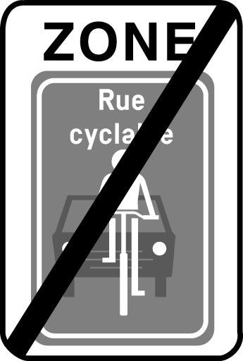 F111 - Zone fin rue cyclable